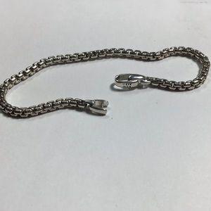 "David yurman 4mm box chain bracelet 8"""